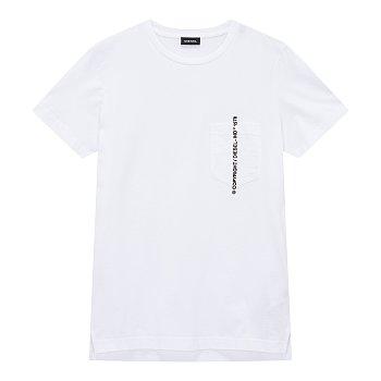 카피라이트 자수 포켓 반팔 티셔츠