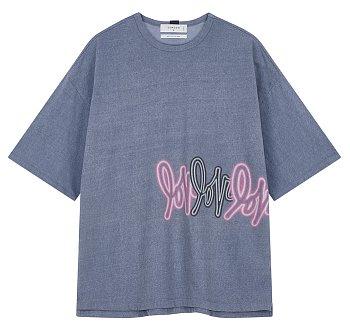 [LOVE] NEON SIGN 테리 반팔 티셔츠