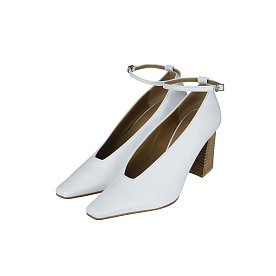 ANKLE STRAP PUMPS (WHITE)