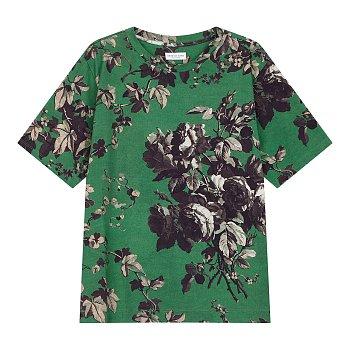 플라워 프린트 반팔 티셔츠