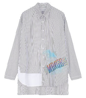 [COOL][x POLYGON] 콜라보 스트라이프 셔츠