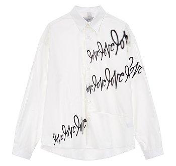 [LOVE] 러브사인 프린트 셔츠
