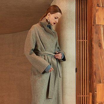 [정소민,김선아,심소영 착용] MANET Cashmere Blended Wool Coat_Soft Gray