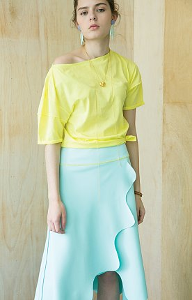 Lund Wave Wrap Skirt [Mint]