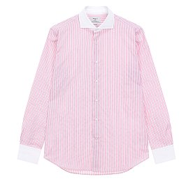 [BAGUTTA]스트라이프 패턴드 셔츠