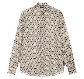 올오버 패턴드 레이온 셔츠
