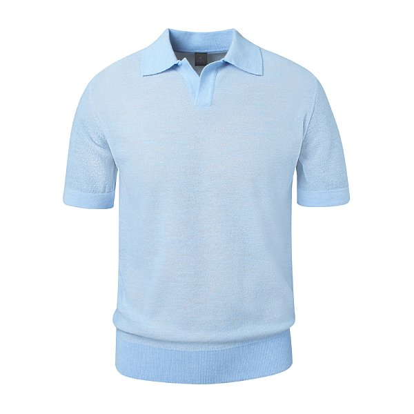 Paul Open Collar_Blue