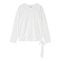 리본 포인트 크루넥 티셔츠
