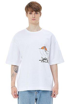 [COOL][x IKI YASUO] 콜라보 프린트 티셔츠