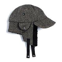 BOMBER HAT - BEIGE BLOCK CHECK