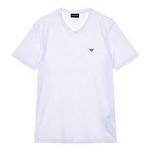 미니 로고 브이넥 반팔 티셔츠