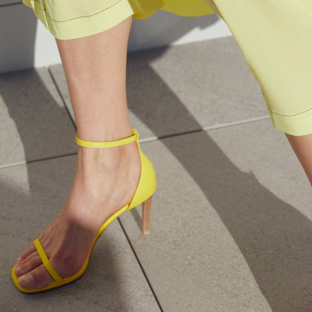 ANKLE STRAP SANDALS (YELLOW)