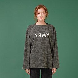 ARMY PRINTED LONG SLEEVE T-SHIRT(GREY)