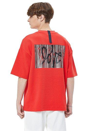 [LOVE] 백 프린트 자수 반팔 티셔츠