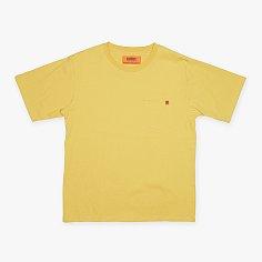 POCKET T-SHIRTS YELLOW 유니버셜 오버롤 포켓 티셔츠