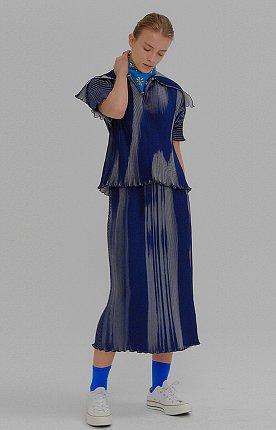 MORIAH Pleated Skirt Navy