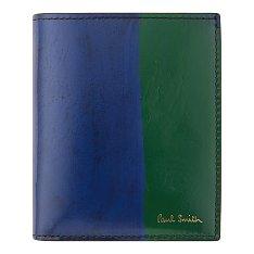 브러쉬 컬러 배색 레더 지갑