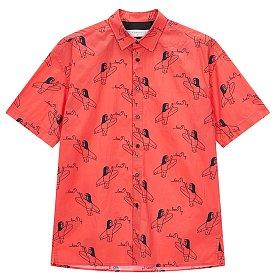 ★셀럽 착용★ [COOL][x IKI YASUO] 콜라보 프린트 셔츠