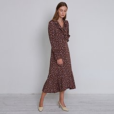 ELINA DRESS, BROWN