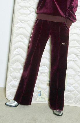 Baby Velvet Track Pants [WINE]