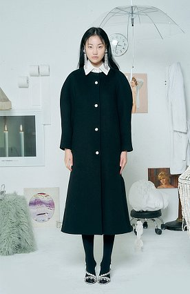 Wool Aurora Coat [BLACK]