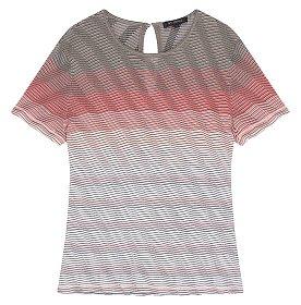 웨이브 스트라이프 반팔 티셔츠