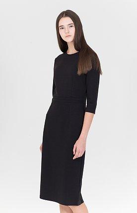 슬림 젠 베이스 드레스 (블랙)