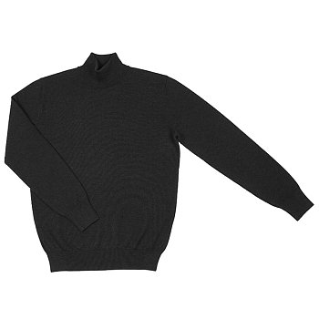 [WHITELABEL] Mockneck_charcoal