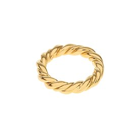 Midnight Sun Rope Ring_GOLD