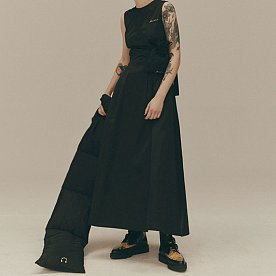 BACK CROSSED MAXI DRESS