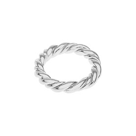 Midnight Sun Rope Ring_SILVER