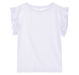 소매 러플 티셔츠