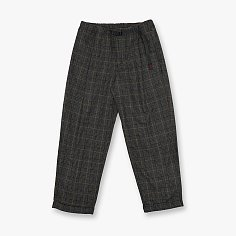 WOOL BLEND TUCK TAPERED PANTS GLEN CHECK GREY 그라미치 울 턱 테이퍼드 팬츠