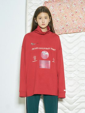 Baby Record Turtleneck T-Shirts [RED]