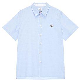 [PS PAUL SMITH] 스트라이프 지브라 와펜 하프 셔츠