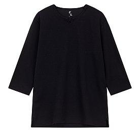 루즈핏 Y넥 7부 티셔츠