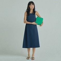 Side-X Bare Dress / Navy