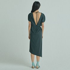 Halfmoon Side Dress / Charcoal