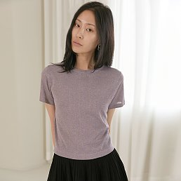 [주문폭주, 리오더 예약발송][BC20SSKN06] GLITTER SHORT SLEEVE KNIT TOP [MULTI]