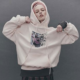 A.I.C PRINTED JERSEY HOODIE