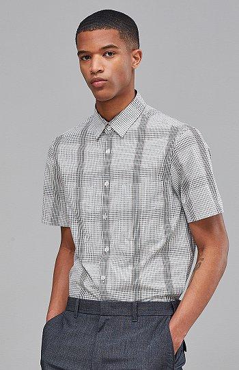 [CASUAL] 반팔 서커체크 셔츠