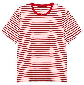오버핏 스트라이프 티셔츠
