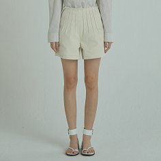 Pintuck Denim Pants / Ivory