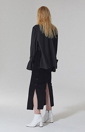 ASYMMETRIC CORDUROY SKIRT