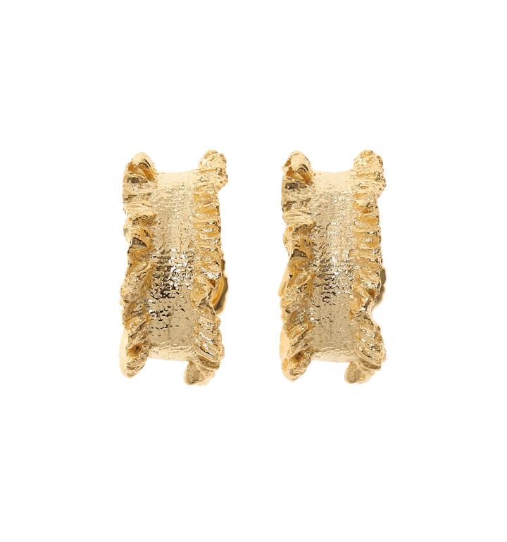 [고준희,정혜성 착용] 1930 Ruffle Hoop Earrings_GOLD