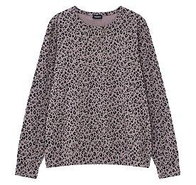 레오파드 패턴드 티셔츠
