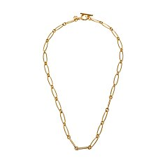 Flow Round Chain Necklace_GOLD