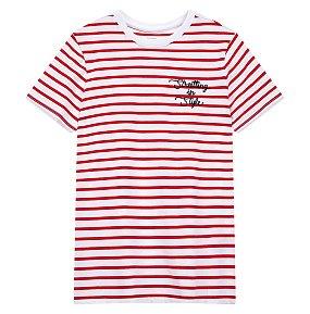 로고 스트라이프 티셔츠