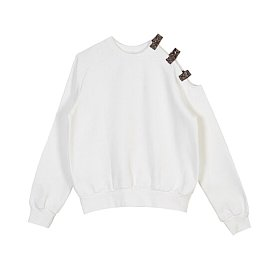ONE SIDE OPEN SHOULDER SWEATSHIRT