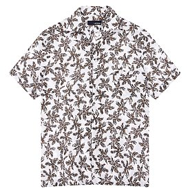 린넨 패턴드 캐주얼 셔츠